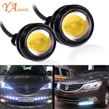 Car styling 1pcs 18MM Led Eagle Eye DRL Daytime Running Lights Source Backup Reversing Parking Signal Lamps Waterproof Car led
