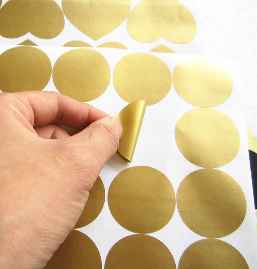 70pcs-4cm removable Gold Polka Dots vinyl wall Decals, Golden Circles stickers home decor