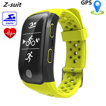 Z-suit New GPS Smart Bracelet Heart Rate Monitor IP68 Waterproof Swim Sports Smart Band Fashion Big Screen Fitness Wristband