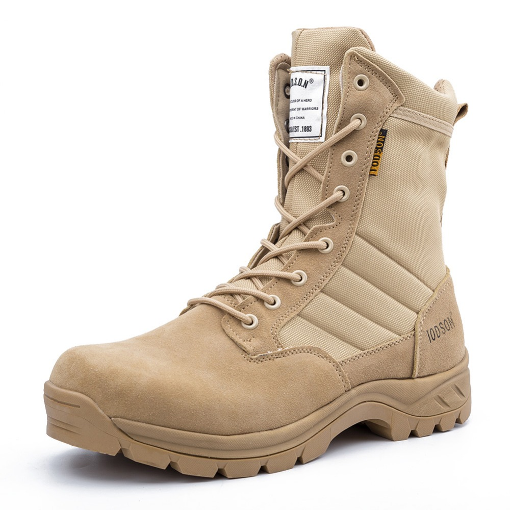 Men's outdoor sports shoes camping hiking shoes military combat tactical boots non-slip wear spring / autumn, side zipper 928