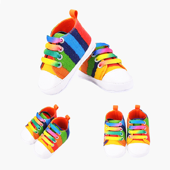 Spring and Autumn models Boys Girls Colorful Series Canvas Shoes 0-1 Years old Baby shoes soft Bottom Toddler