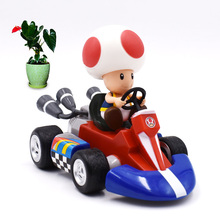 13 cm Anime Super Mario Bros Kart Pull Back Car Toad PVC Action Figure Doll Collectible Model Toy Christmas Gift For Children [funny] original box 28cm game over watch azrael black death reaper ripper action figure collectible model doll toy kids gift