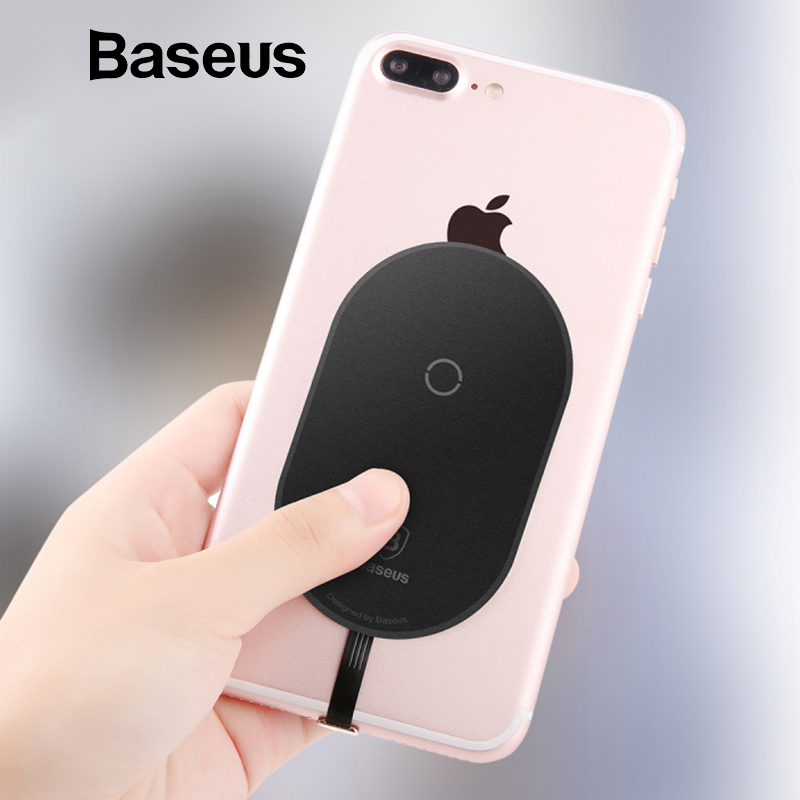 Baseus QI cargador inalámbrico receptor para iPhone 7 6X8 5 Samsung Nota 8 S8 S7 S6 inalámbrico borde receptor de carga para Xiaomi MiA1