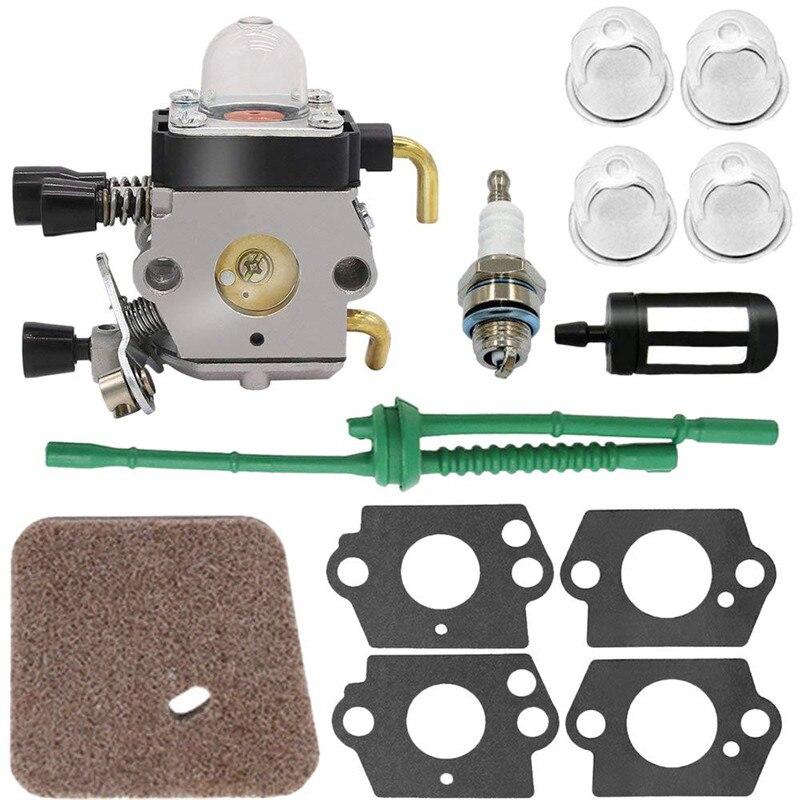 1 Set Kit Carburateur 4 pièces de montage pour Stihl Fs80 Carburateur Stihl Fc55 Fc75 Fc85 Fs310 Fs38 Fs45 Fs45C Fs45L Fs46 Fs55