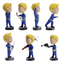 Fallout Vault Boy Figuras Bobble-head Série Fallout 13cm Gaming Heads Collectible Action Figure Modelo Brinquedos Bonecas(China)