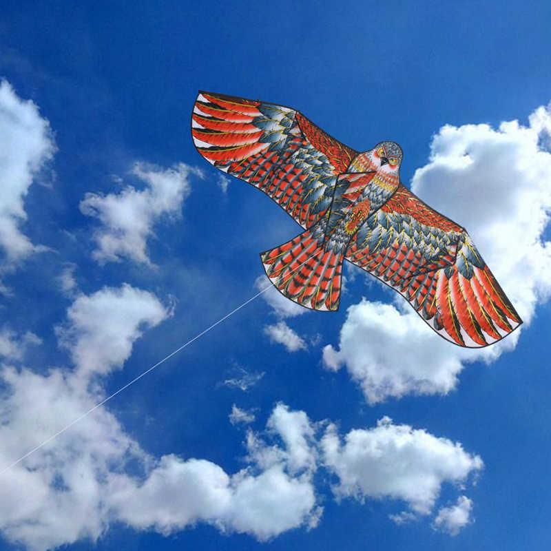 1,1 м плоский змей орла Большой Летающий воздушный змеи для детей летающий воздушные змеи в форме птиц Windsock плоский орел кайт садовая скатерть игрушки для детей