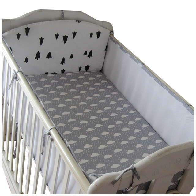 Online Shop Crib Bumper 5pcs 3d Breathable Mesh Summer Cotton Baby