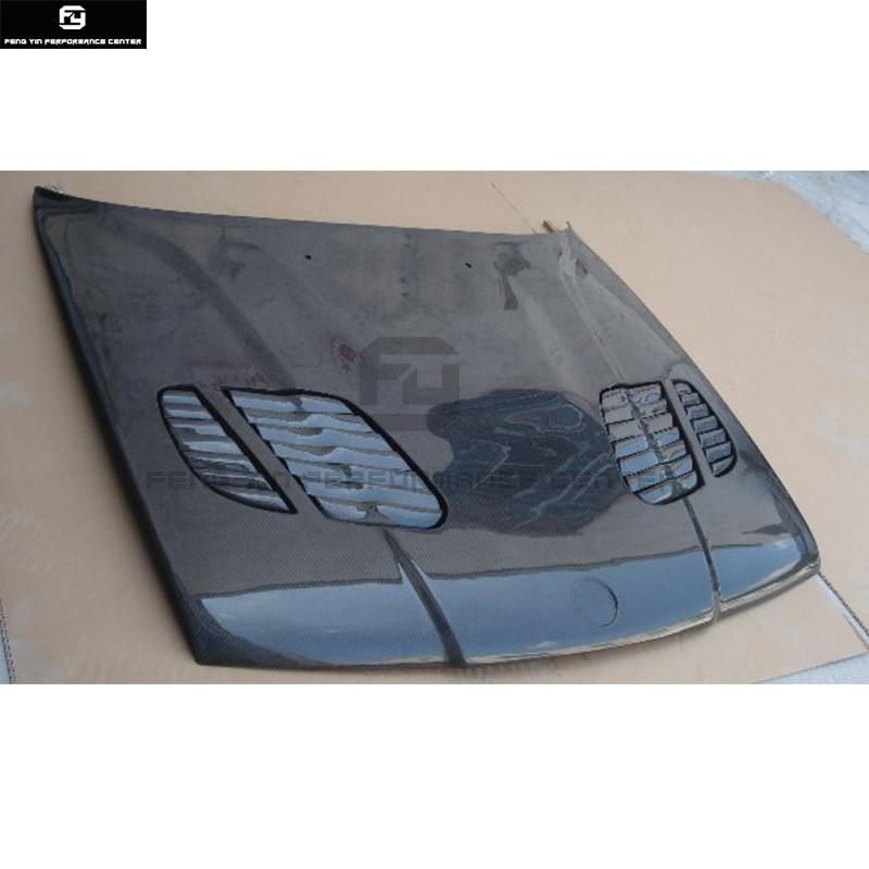 E34 5 serie Carbon Fiber Front motorhaube Hauben motor Abdeckungen mit vents für BMW E34 525i 1988 1995-in Kapuzen aus Kraftfahrzeuge und Motorräder bei FENG-YIN MOTOR Store