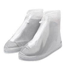 Booties Durable Waterproof Sneaker Mud Protector Thicken Zipper Closure Rain Shoe Covers Reusable Outdoor PVC Drawstring Design