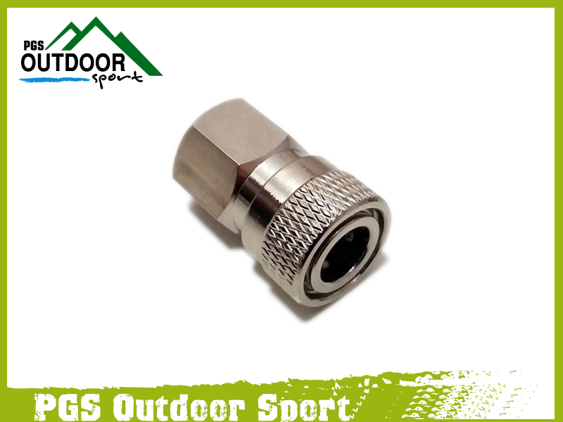"Image 3 - Paintball PCP Charging Fill Fitting 8mm Copper/Stainless Quick Disconnect Connector 1/8"" NPT Female Socket Realse-in Paintball Accessories from Sports & Entertainment"