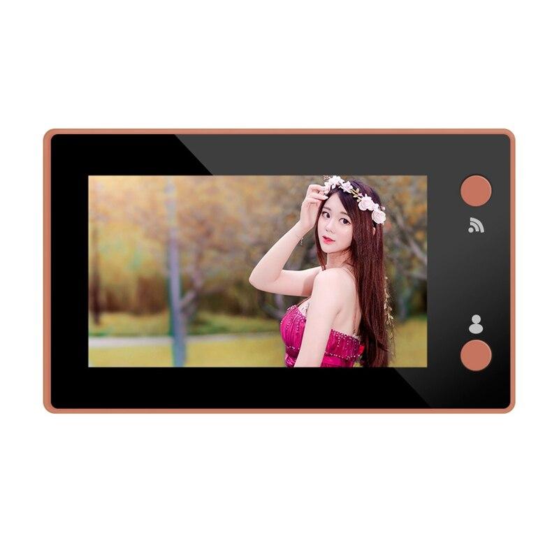4.3 pouces Wifi intelligent judas moniteur vidéo interphone HD caméra vision nocturne PIR détection de mouvement sonnette APP pour IOS android