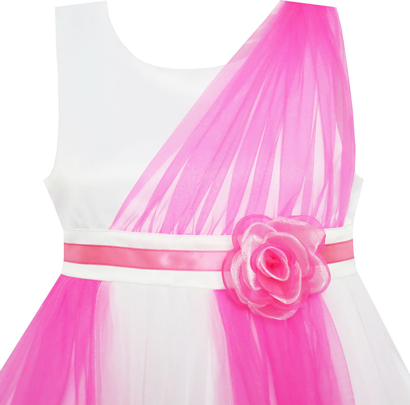 Mädchen Kleid Elegant Brautkleid Brautjungfer Tüll Blume 2019 - Kinderkleidung - Foto 3