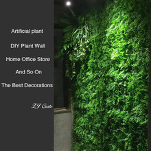 Artificial Plant Lawn 40cm*60cm DIY Background Wall Simulation Grass Leaf Wedding Home Decoration Green Plant Wall Wholesale цена и фото