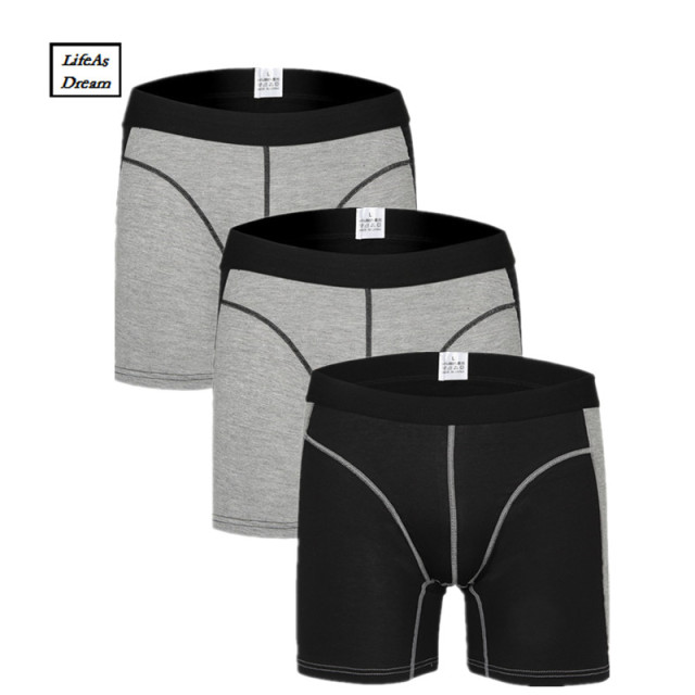23a9ffe05 2018 Cuecas Calzoncillos 3pcs/lot Men's Boxer Underwear Pants Cotton Men  Shorts Loose Calecon Pour Homme Mens Boxers Long Leg