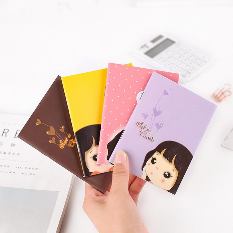 1pcs/lot  New Fashion Cute Lovely Girl Notebook Pocket Book  Planner Agenda Book