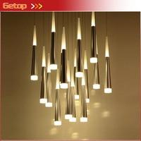 Post Modern Simple Restaurant Chandelier Art Lights Meteor Shower Villa Stairs Light Living Room Bedroom LED