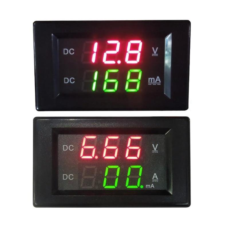 DC 100V 20A Dual Digital Voltmeter Ammeter Volt Amp Tester Gauge Meter Red+Green LED #0703 2pc lcd digital voltmeter ammeter voltimetro red led amp amperimetro volt meter gauge voltage meter dc wholesale