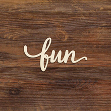 Laser Cut Fun Script Wooden Art Sign Wood Decoration for Party Room Gallery Rustic Wall