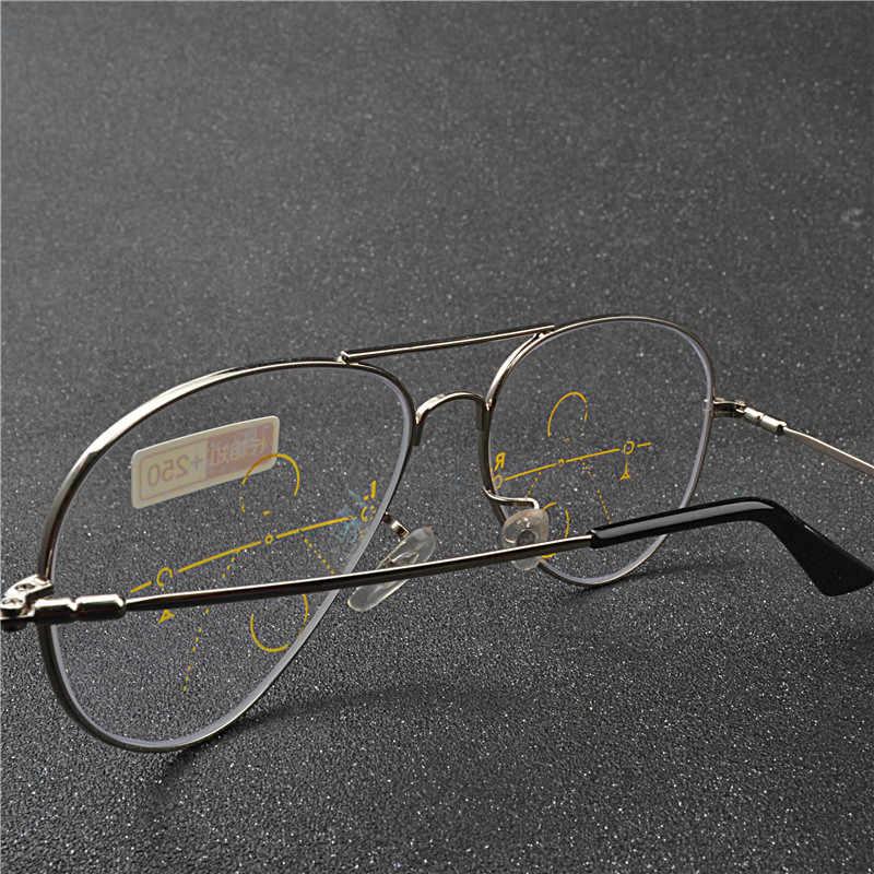 956e6c3d484 ... Ultralight Rimless Eyewear Smart zoom Titanium Progressive Multifocal Reading  Glasses Men Women Presbyopia Hyperopia FML