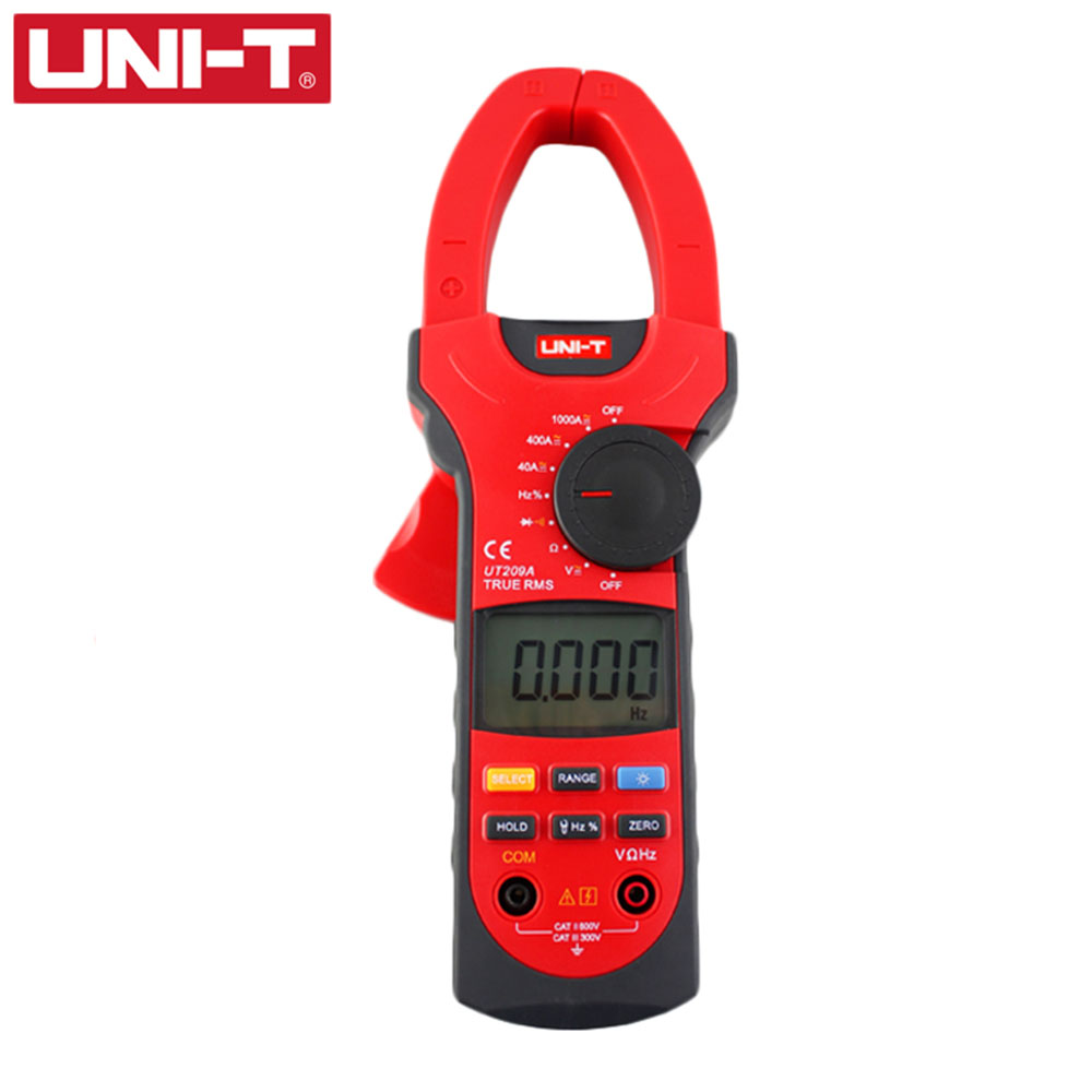 UNI-T UT209A Digital Clamp Meter Multimeter Professional True-RMS LCD Multifuction Ohm DMM DC AC Voltmeter AC Ammeter ut216a 216b 216c 216d true rms digital clamp meter youlide uni t