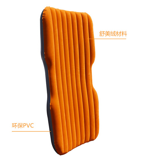 ФОТО New design 1pcs pvc flocking Foldable inflatable air car bed travel air mattress hot sell.4 kinds color for select.