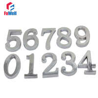1pc 50mm Digital House Number 0/1/2/3/4/5/6/7/8/9# Optional Alloy Door Number Adhesive Sticker Hotel Apartment Home Gate Number