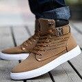 Venta caliente de Los Hombres Zapatos Sapatos Tenis Masculino de Moda Masculina Otoño Invierno Botas Para Hombre Casuales de Alta Superior Zapatos de Lona Casuales