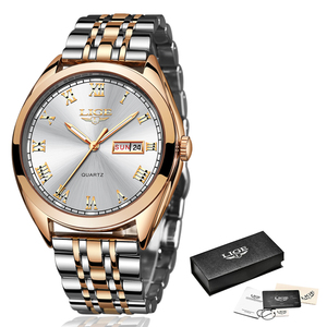 Image 3 - LIGE montre à Quartz pour femme, style or blanc, nouvelle collection 2019, de marque de luxe, horloge avec boîte, collection décontracté