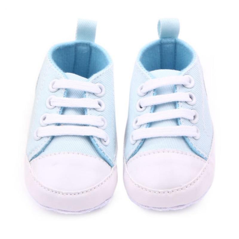0-12 M Baru Lahir Balita Sepatu Kanvas Bayi Laki-laki Perempuan - Sepatu bayi - Foto 2