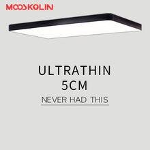 Mooskolin современные светодио дный светодиодные потолочные светильники для гостиной спальня кухня luminaria светодио дный LED ультра-тонкий 5 см зал luminaria светодио дный светодиодный потолочный светильник