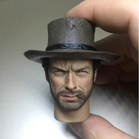 1/6 Scale Gentleman Men Boy Head Sculpt with Cigaretes Hat Version Heads Carving Model Toys for 12'' Male Figure