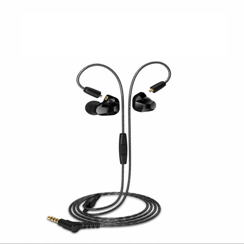 Moxpad X9 Pro Dual Dynamic Driver Professional In Ear Sport Headphone with Mic for Cellphone with