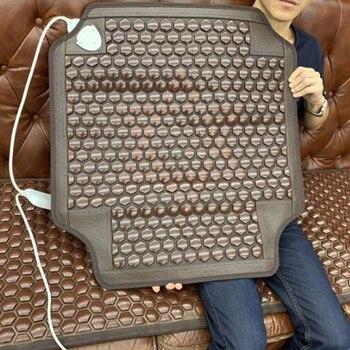 Electric Heating Mat Three-coke Maifan Stone Far Infrared Belly Cover Warm Tourmaline Health Abdominal Physiotherapy Cushion