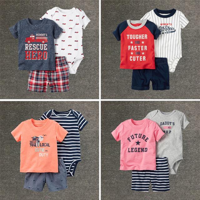 De alta calidad recién nacido ropa Del Bebé fijó, ropa de niños bebé, ropa de bebes niños Ocio Ropa Conjuntos 3 unids roupa infantil