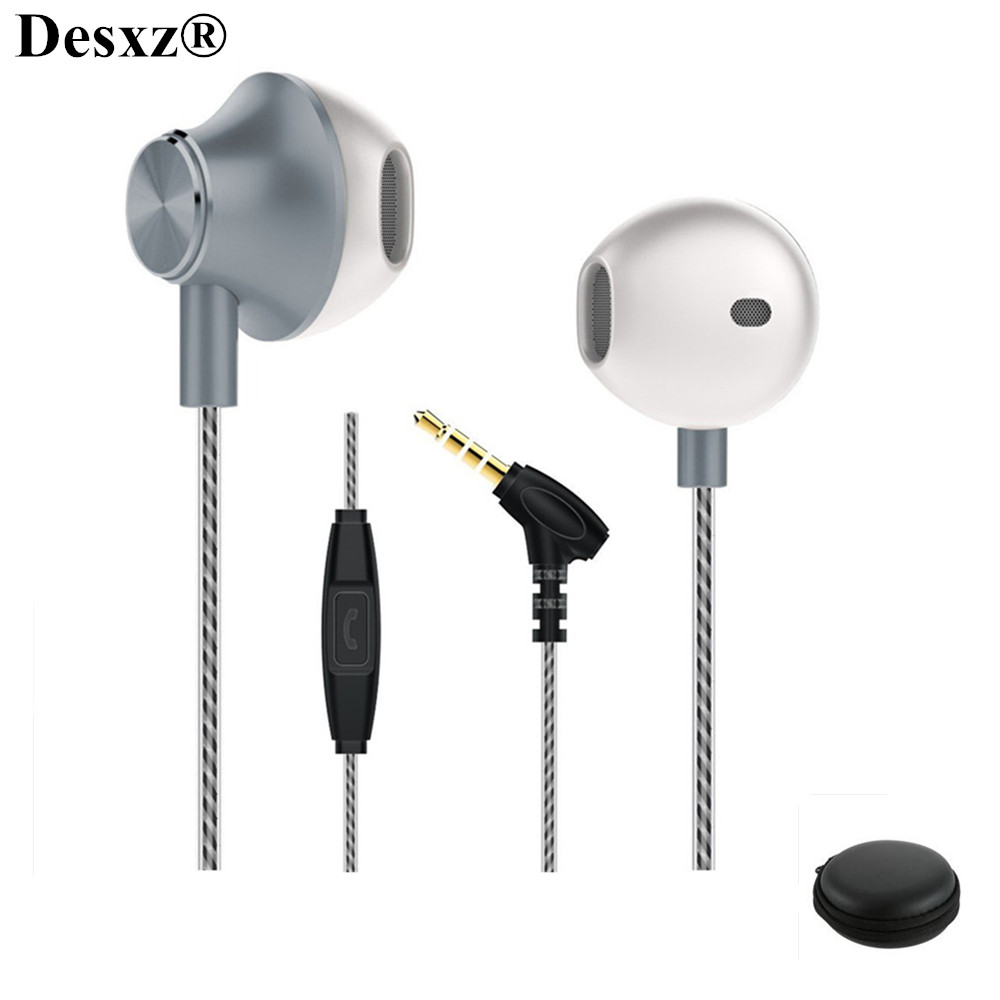 Desxz X1 Earphones Metal HIFI Bass with Microphone Stereo Headset Earbuds for Phone iPhone 4 5 5S xiaomi Samsung airpods m410 3 5mm in ear bass earphones headphones music headset earbuds with microphone for iphone samsung xiaomi huawei htc mp3