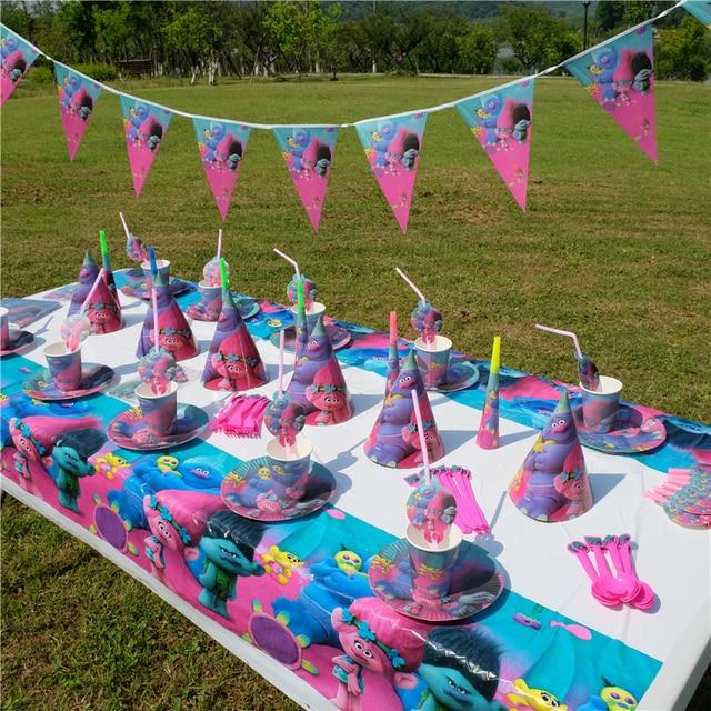 trolls poppy dj suki guy kids birthday party decoration set party