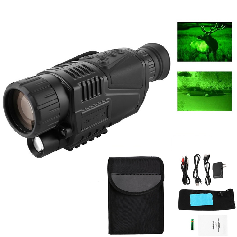 Outdoor Night-Vision Monocular Tactical Infrared Night Vision Telescope Military HD Digital Monocular Telescope Navigation vision u60