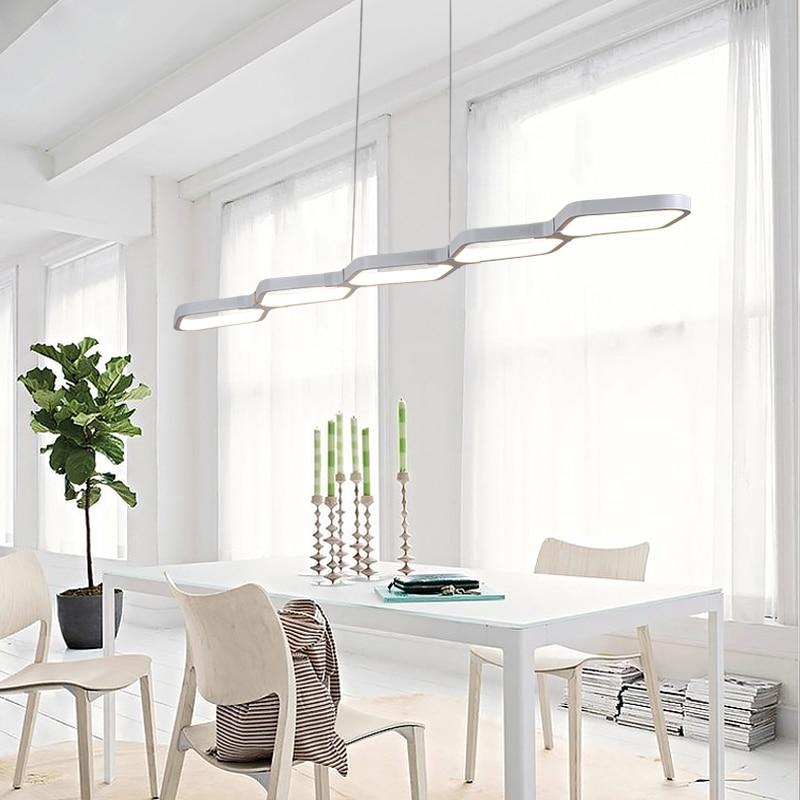 Modern LED Pendant Light Novelty Lighting Hanging Lamp for Living Room Bar Home Decoration Long Dimmable Remote Control Metal