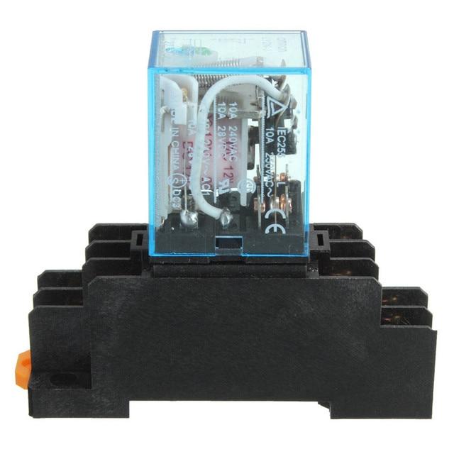 10x Coil Power Relay LY2NJ 12V DC DPDT 8 Pin HH62P JQX 13F SET + ...