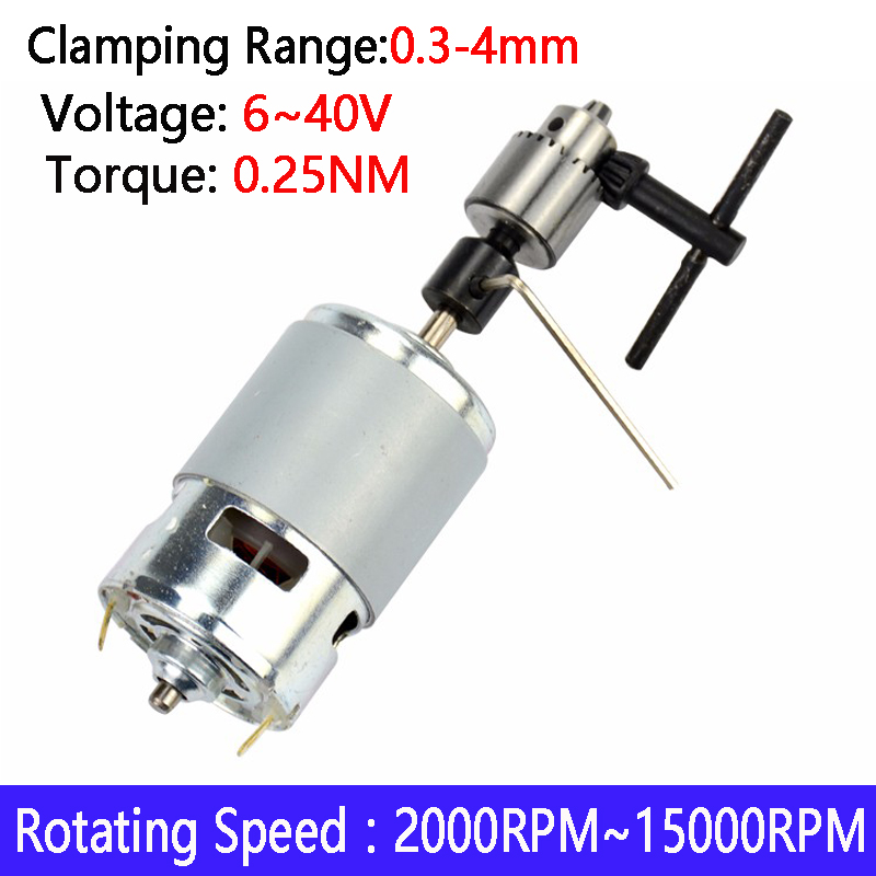 1pcs New DC 12-24V 775 Miniature Mini Drill Perforated Angle Grinder Cutting Machine Electric Motor For Polished Drilling
