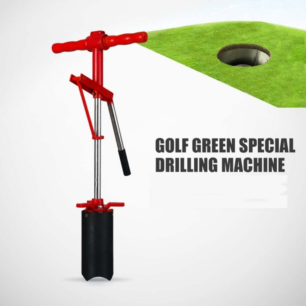 CRESTGOLF Putting Green Lever Action Hole Cutters Punch Machine Golf Green Special Drilling Machine with Manual Operation golf putting mat mini golf putting trainer with automatic ball return indoor artificial grass carpet