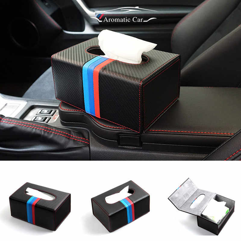 Modern Concise Style High-grade Tissue Box Creative Napkin Box Sitting Room Lid Tissue Boxes For BMW BENZ AUDI CAR STYLI