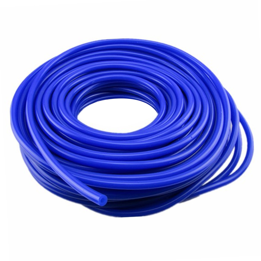 Universal 5 Meters 3mm/4mm/6mm/8mm Blue Color Silicone Vacuum Tube Hose Silicon Tubing Car Accessories image