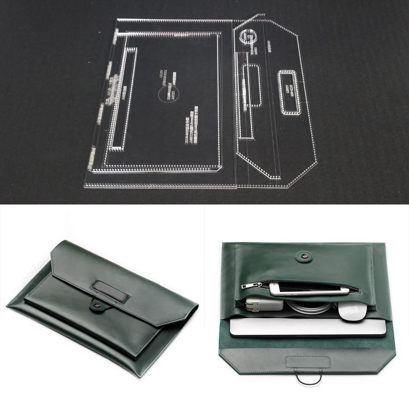 13 inch laptop Storage bag Pattern Stencil Template Set Leather Craft DIY Leathercraft Tool Sewing Pattern 33.5x22.5x1cm