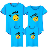 1piece Family matching clothes mother daughter son outfits cotton casual short sleeve T shirt family look father baby clothing
