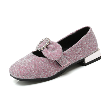 2019 baby girls spring autumn flats casual princess shoes children's bowknot shallow mouth shoes sc9 1