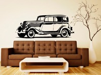 Retro Classic Vintage Car Old Transport Decal Wall Vinyl Sticker Home Interior Removable Bedroom Office Dorm Decor 57 x 143cm