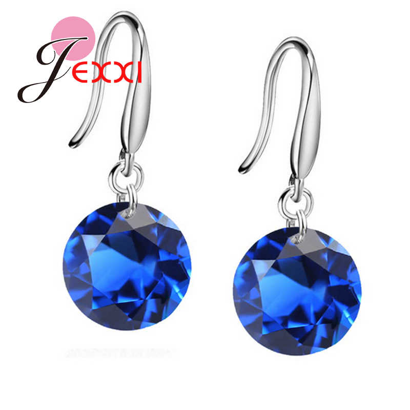 Big Promotions!!  Nice 925 Sterling Silver  10mm AAAA Crystal Shiny Woman Girl Candy Hook Dangle Earrings
