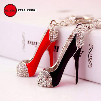 Creative Sexy High Heel Key Chain Exquisite Bag Pendant for Women Girls Car Interior Ornaments Key Ring image
