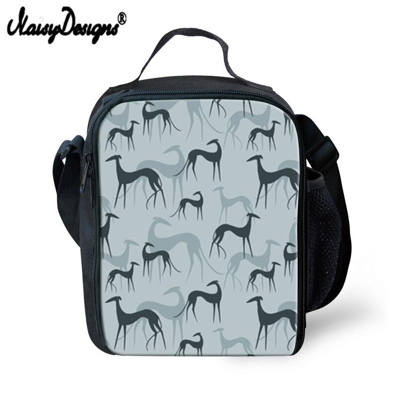 Bolsa de Almoço Portátil para Mulher Greyhound Cães Imprime Meninos Lancheira Meninas Fresco Térmico Armazenamento Piquenique Bolsa Dropshipping